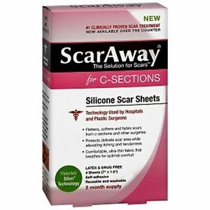 ScarAway for C-Sections, Silicone Scar Sheets 4 ea
