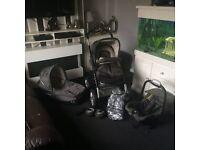 Travel system ( 6pcs ) musty pram pushchair