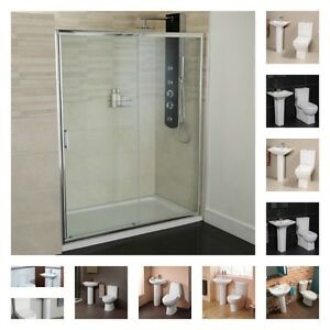 1400 sliding shower door enclosure with 2 piece toilet for 1400 sliding shower door