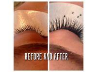 Individual eye lash extension and shellac nails