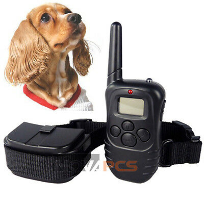 NEW LCD 100LV Level Shock Vibration Remote Pet Dog Training Collar For 10-130lb on Rummage