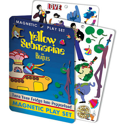 The Beatles Yellow Submarine Magnetic Playset Over 25 Magnets