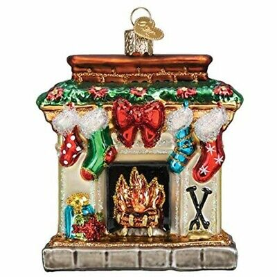 Old World Christmas 32434 Glass Blown Holiday Hearth Ornament