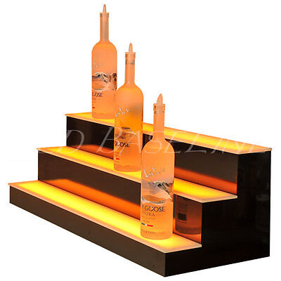 37 Led Lighted Bar Shelves 3 Step Led Liquor Bottle Displ Display Shelving