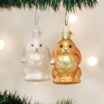 Baby Bunny Glass Ornaments - Bunny Ornaments