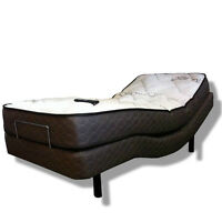 SINGLE ADJUSTABLE ZED BED AND SNOWPEDIC MATRESS -