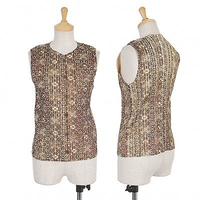 PLEATS PLEASE Pleated Vest Size S(K-49885)