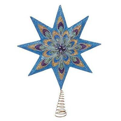 Kurt Adler 16.5-Inch 8-Point Peacock Star Treetop