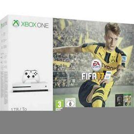 Xbox One S 1tb storage with 5 games