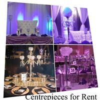 Centerpieces for Rent - Any Event - 20 types to choose