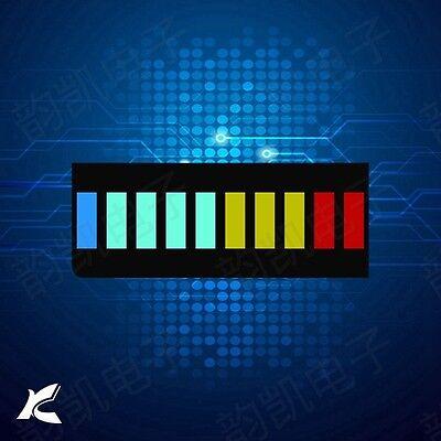 5 Pcs 10 Segment Led Bargraph Light Display Red Yellow Green Blue