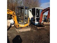 Ayrshire mini and micro diggers and dumper hire