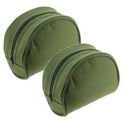 2 X Green Fishing Reel Cases For Coarse Carp Fishing Reels Tackle NGT
