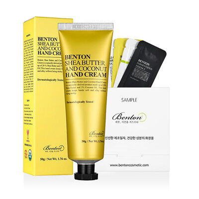 [Benton Cosmetic] Shea Butter and Coconut Hand Cream 50g + Free Sample