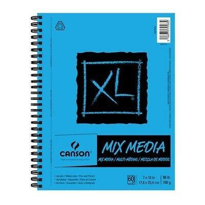 Canson XL Multi-Media Spiral Paper Pad 7ins X 10ins - 60 She