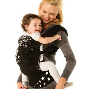 Black ergo with stars and grey infant insert