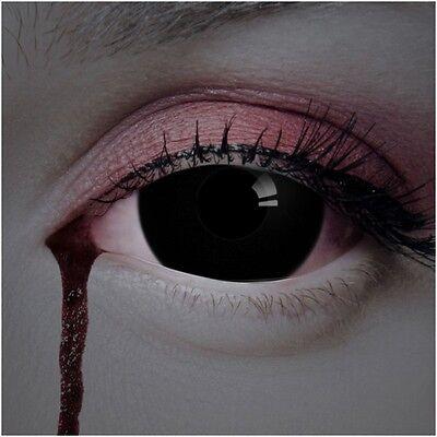 aricona Mini Sclera Black 17mm schwarze farbige Kontaktlinsen Halloween Cosplay (Schwarze Kontaktlinsen Halloween)
