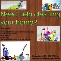 Need Help?Cleaning Services Available