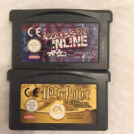 Nintendo Gameboy advanced advance games colour color GB GBC GBA Harry Potter