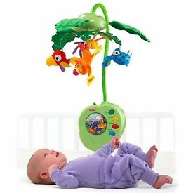 Fisherprice Rainforest cot mobile with remote control