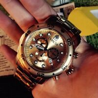 INVICTA 18K gold plated watch