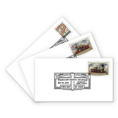 USPS New Transcontinental Railroad First Day Cover (Set of 3)