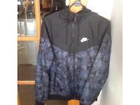 NIKE light weight jacket camo and black