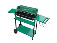 Brand New Charles Jacobs Portable Charcoal Barbecue Grill with Wheels and Barbecue Kit -Green /Black