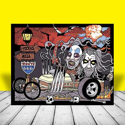 Rob Zombie & Captain Spaulding DRAGULA ART artist signed, house of 1000 corpses