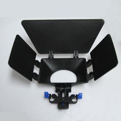Matte Box 15mm Rail Rod Support follow focus Fr DV DSLR D90 60D 600D 5D II GH2