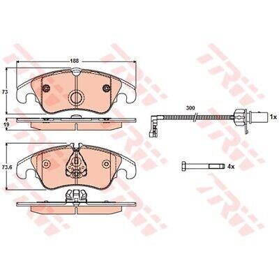 TRW Bremsbelagsatz Scheibenbremse COTEC GDB1768 AUDI A4 AUDI A5 AUDI A6 AUDI Q5