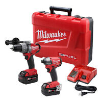 Milwaukee 2797-22 Hammer Drill/Driver and Impact Combo Kit