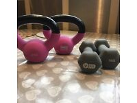 2 sets of weights - 1kg and 2kg