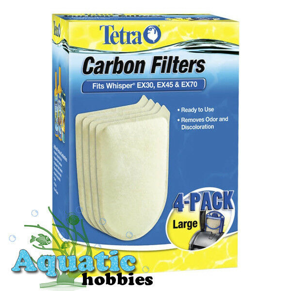 Tetra Whisper EX Carbon Filter Cartridges, Large, 4-Count