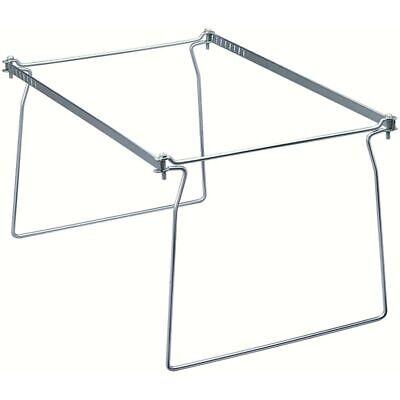 Hanging Folder Frame Letter 2pk Steel Gray
