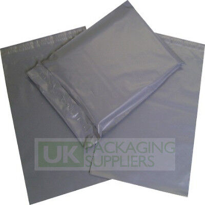 100 x GREY PLASTIC MAILING BAGS ASSORTED MIXED VARIOUS SIZES PACK B - NEW