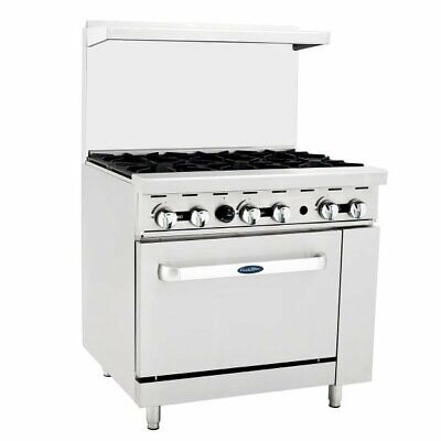 Atosa Usa Ato-6b 36 Gas Restaurant Range 1 Standard Oven 6 Open Burners