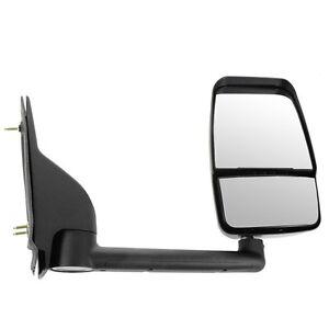 03-17 Chevy Express Savana Van Textured Black Manual Tow Mirror Right Passenger