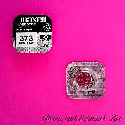 3x Maxell 373 Uhren Batterie Knopfzelle SR916SW Silberoxid Blisterware Neu Sr916sw Uhr Batterie