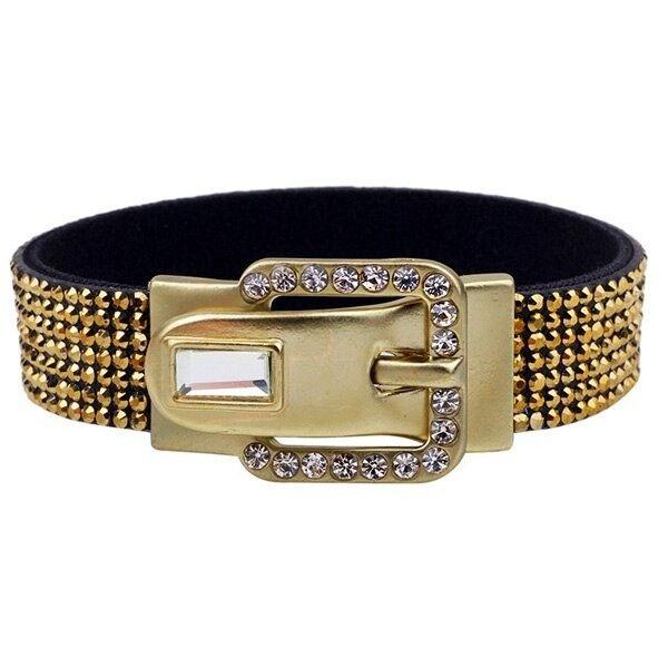 Stylish Magnet Pin Buckle Rhinestone Bracelet