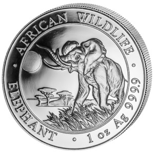 Pièce en argent/silver bullion Somalian elephant 2016 1 oz .999