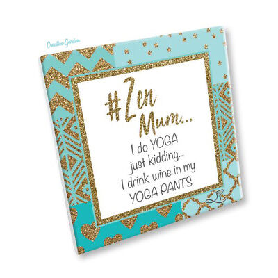 Lisa Pollock Zen Mum Ceramic Plaque With Quote Gift For Women Mother Mummy Mom