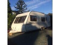 Abbey freestyle 640 6 berth caravan excellent condition end bathroom twin axle