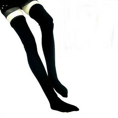 SD BJD socks stockings  Model doll size Black Stocking Chain Lace Band