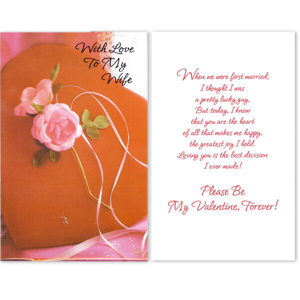 """Lot of 150 Valentine Day Cards That Says""""With Love To My Wife"""""""