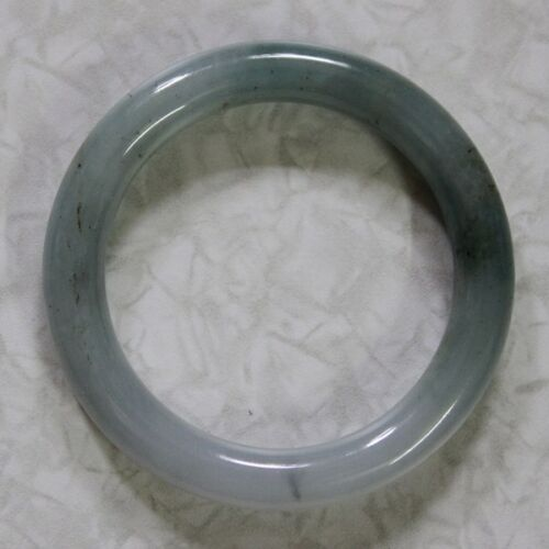 CERTIFIED Natural JADE Grade A Gorgeous Untreated Oily Green Jadeite Bangle 54mm