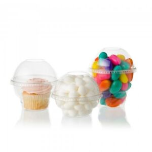 Clear Container w/ Dome lid - perfect for cupcakes, treats, etc!