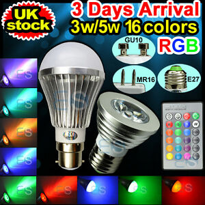4x-GU10-E27-3W-5W-16-Color-Changing-RGB-LED-Light-Bulb-Lamp-IR-Remote-Control