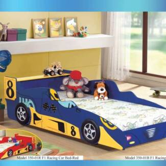 Kids F1 Racing Car Single Bed