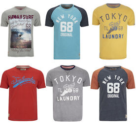 Tokyo Laundry Men's T-Shirts – 15 Options (2 for £15)